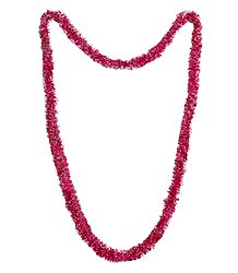 Red with White Synthetic Paper Garland