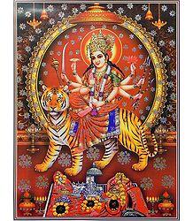 Bhagawati - (Poster with Glitter)