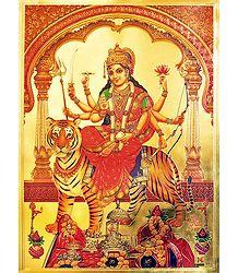 Bhagawati - Metallic Poster