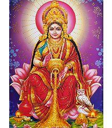 Glitter Image of Dhana Lakshmi
