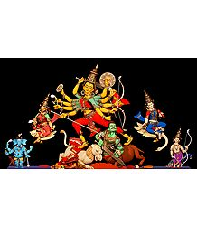 Mahishasuramardini Durga - Photo Print