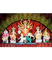 Durga - Form of Shakti - Photographic Print