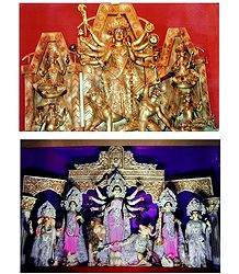 Durga - The Slayer of Mahishasura - Set of 2 Photo Print