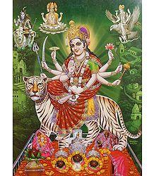 Vaishno Devi - Glitter Poster