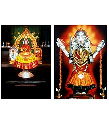 Lakshmi and Mahakali - Set of 2 Posters
