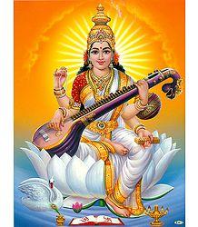 Saraswati with Veena