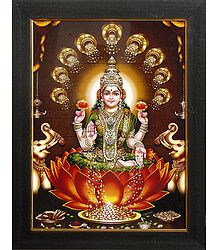 Dhana Lakshmi - Framed Picture on Laminated Board
