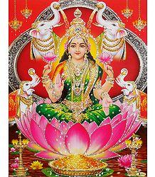 Gajalakshmi - Glitter Poster