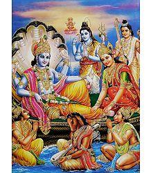 Lakshmi Narayan - Glitter Poster
