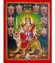 Nava Durga - Wall Hanging