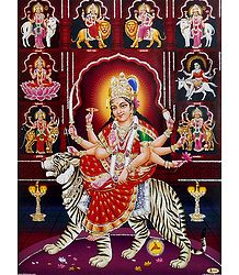 Nava Durga - Unframed Glitter Poster