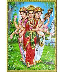 Parvati, Lakshmi and Saraswati - Poster