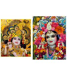 Radha Krishna - Set of 2 Poster