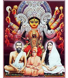 Durga, Kali with Ramakrishna Dev, Sarada Ma and Vivekananda - Book