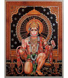 Hanuman - Glitter Poster