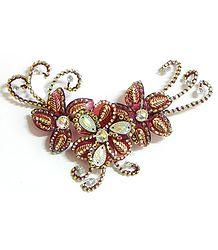 Stone Studded Flower Head Piece