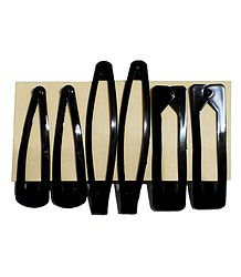 3 Pairs of Tik Tak Black Hair Clip