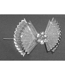 Silver Color Metal Butterfly Shaped Hair Pin