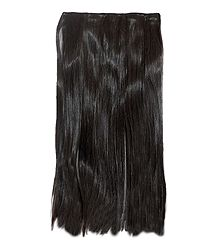 Dark Brown Clip-On Artificial Hair Extension