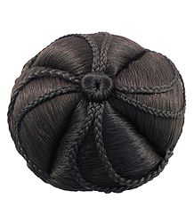 Designer Dark Brown Hair Bun