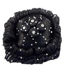 Stone Studded Designer Hair Bun