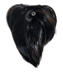 Dark Brown Hair Extension on Clip