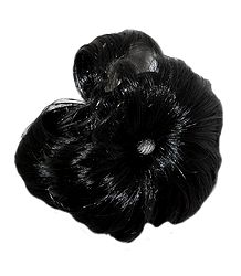 Black Synthetic Hair with Clutcher