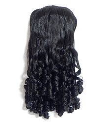Synthetic Curly Hair Extension on Comb