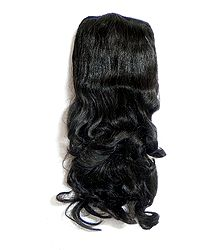 Curly Hair Extension on Comb