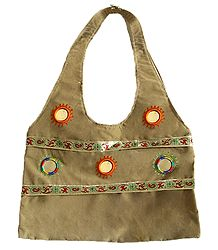 Shoulder Bag with Mirror Work