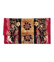 Batik Leather Clutch Bag