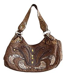 Elegant Beaded and Sequined Bag