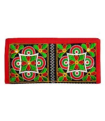 Embroidered Cloth Clutch Purse