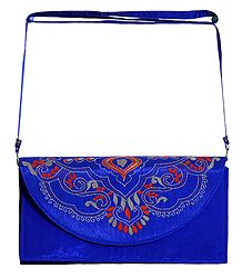 Blue Bag with Kantha Stitch
