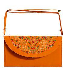 Yellow Bag with Kantha Stitch