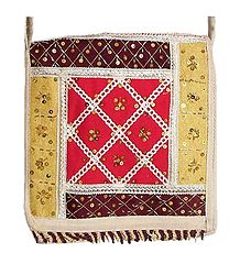 Sequined, Beaded Jute Bag