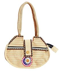Jute Bag with Three Zipped Pocket