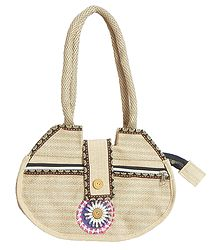 Jute Bag with Three Zipped Pocket