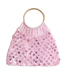 Pink Sequined Macreme Bag