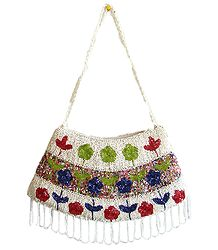 White and Multicolored Party Bag