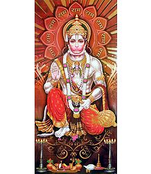 Buy Glitter Poster of Hanuman