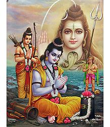 Rama Propitiates Shiva