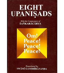 8 Upanishadas - Set of 2 Volumes - with Commentary of Sankaracharya