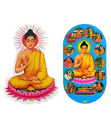 Lord Buddha - Set of 2 Stickers