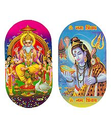 Vishwakarma and Shiva Sticker