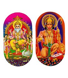 Vishwakarma and Hanuman Sticker