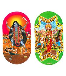 Kali and Bhagawati Sticker