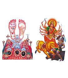 Durga and Vaishno Devi Sticker