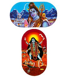 Shiva and Kali - Set of 2 Stickers