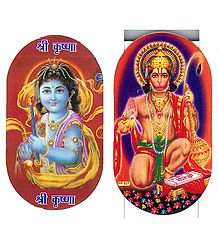 Lord Krishna  and Hanuman Sticker